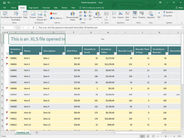 Microsoft Excel Spreadsheet With Xls File Extension  What Is An .xls File And How Do I Open It?