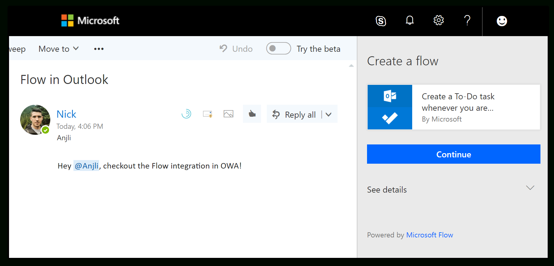 Microsoft Flow Spreadsheet In Flow Is Available In Excel And The Outlook Web App, Introducing