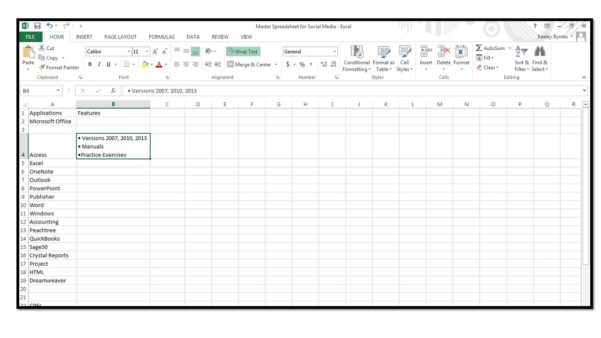 Microsoft Office Spreadsheet For How To Insert Bullets In Excel  Microsoft Office Training