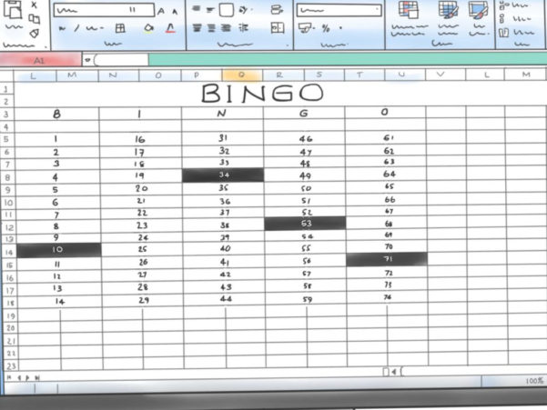 Microsoft Office Spreadsheet With Components Of A Spreadsheet And How To Make A Bingo Game In