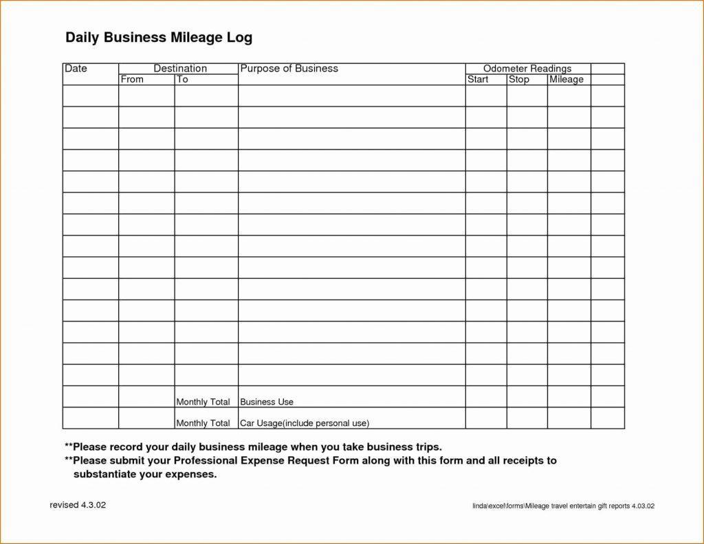 Mileage Log Spreadsheet Inside Tax Template For Expenses Printable Mileage Log 2017 Free Tafree