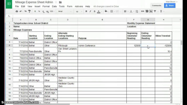 Mileage Spreadsheet Uk For Mileage Spreadsheet Uk  Natural Buff Dog
