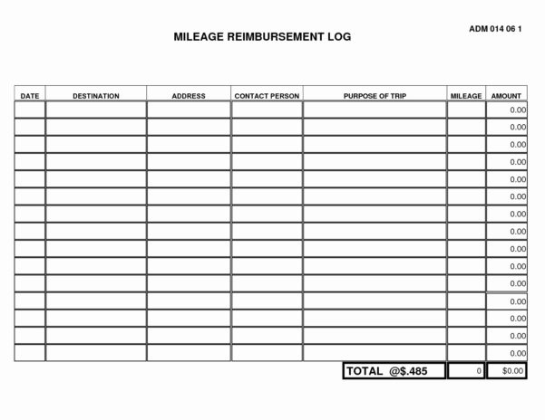 Mileage Spreadsheet With Form Templates Mileage Tracker Spreadsheet Luxury Irs Log Book