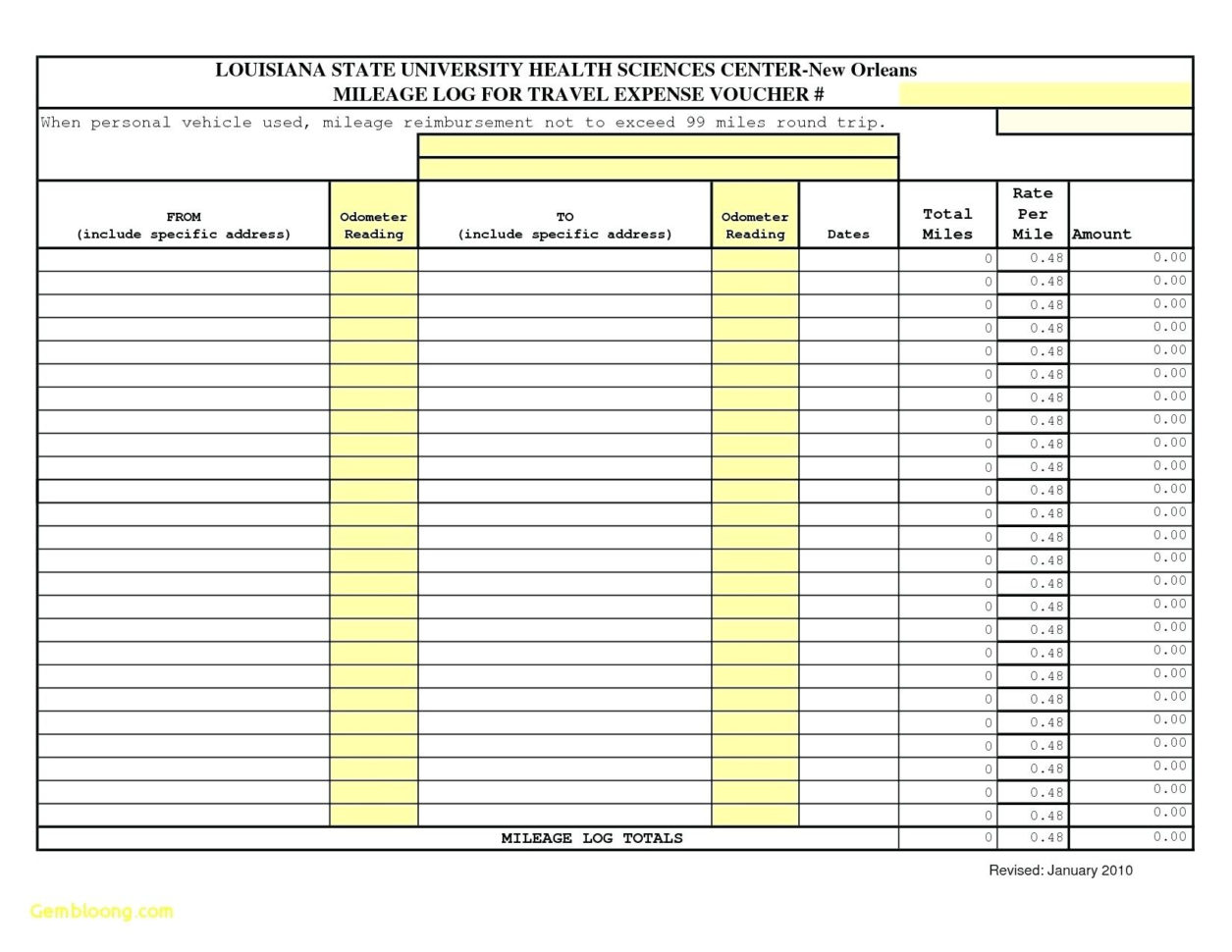 Mileage Tracker Spreadsheet With Regard To Mileage Spreadsheet Free Tracker Form Business Proposal Template