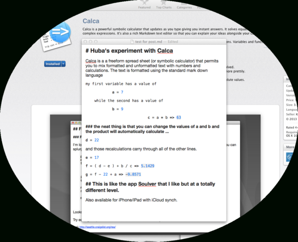 Mind Map Spreadsheet Regarding Calca – A Must Have Freeform #spreadsheet Symbolic #calculator