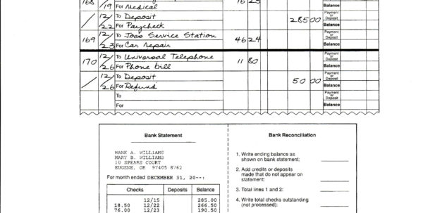 Mint Spreadsheet For Balancing Your Checking Account Worksheet Answers The Mint With Dave