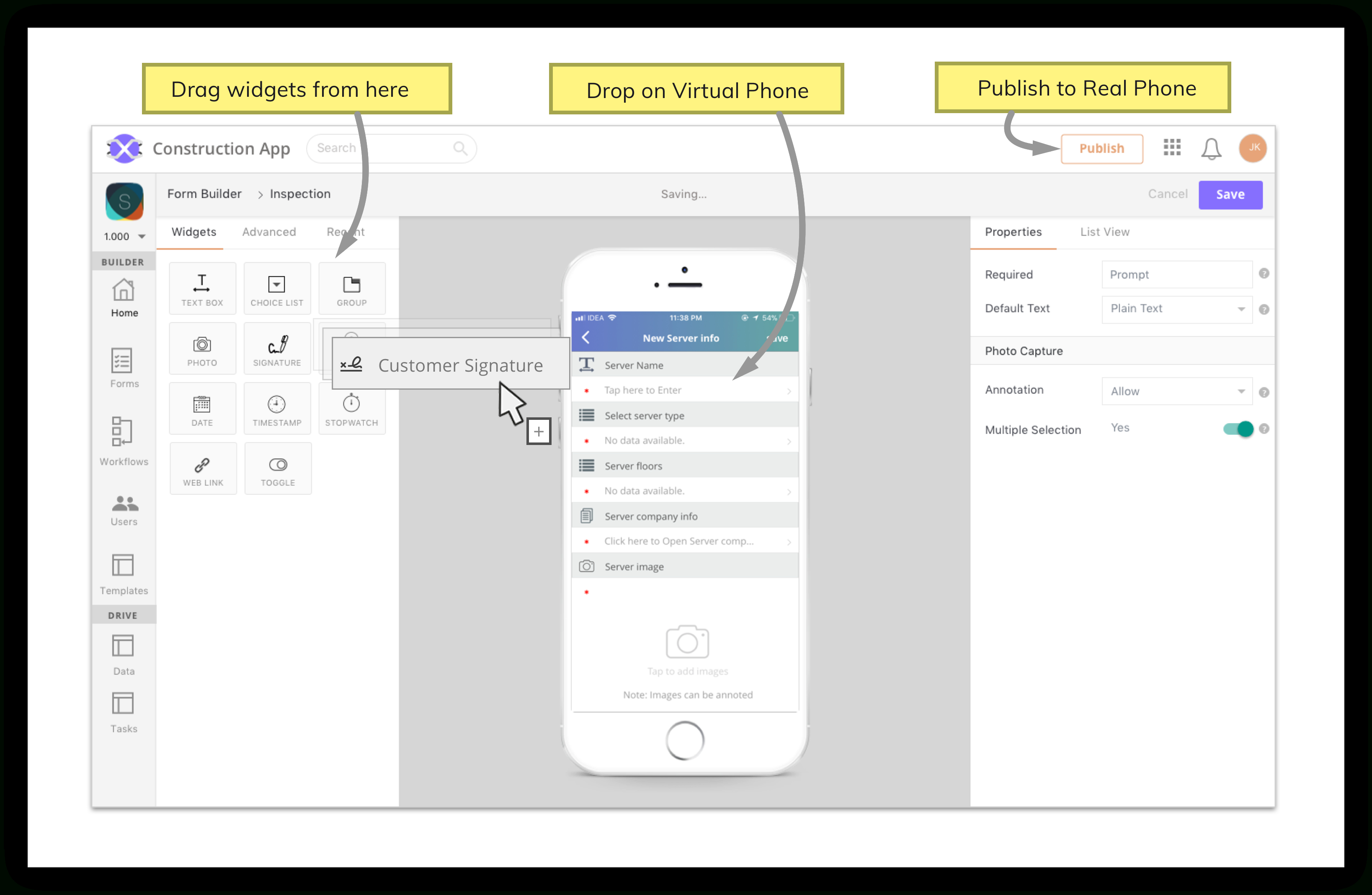 Mobile Spreadsheet App Pertaining To Mobile App Builder  No Coding Required  Axonator
