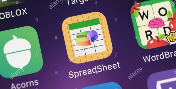 Mobile Spreadsheet App Within London, United Kingdom  October 26, 2018: Icon Of The Mobile App