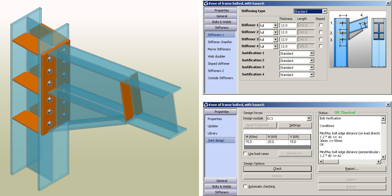 Moment Connection Design Spreadsheet Throughout Eurocodes 3 Connection Design  Autodesk Advance Steel  Graitec