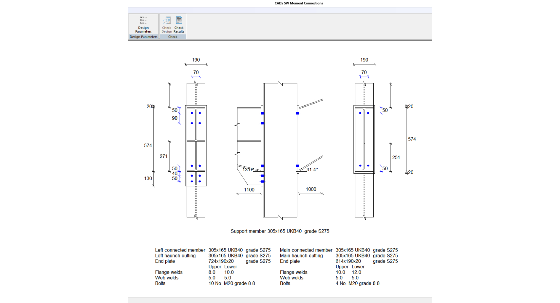 Moment Connection Design Spreadsheet Throughout Steelwork Moment Connection Designer  Cads Uk