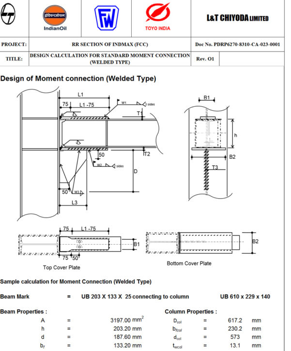 Moment Connection Design Spreadsheet With Design Of Moment Connection Welded Type  Civil Engineering Community