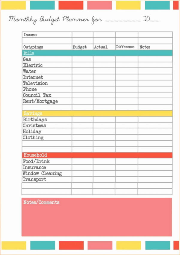 Money Spreadsheet Template With Business Monthly Budget Spreadsheet Template With Plus Expenses