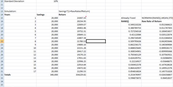 Monte Carlo Simulation Spreadsheet Regarding Self Study  Monte Carlo Simulation Exercise  Cross Validated