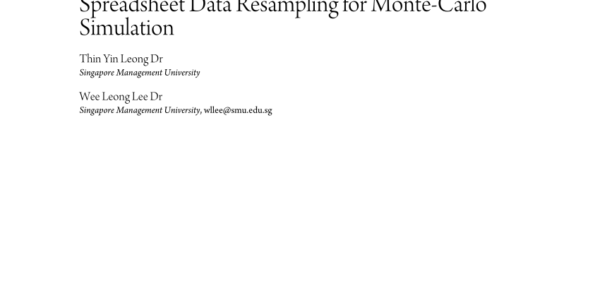 Monte Carlo Simulation Spreadsheet With Pdf Build Your Own Monte Carlo Spreadsheet