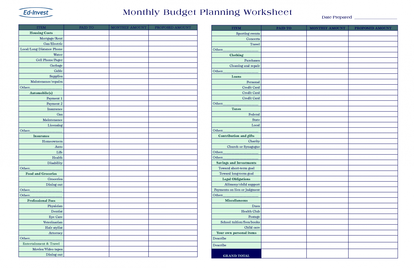 Monthly Budget Excel Spreadsheet Template Free Pertaining To Spreadsheet Monthly Budget Excel Template Free Worksheet Templates