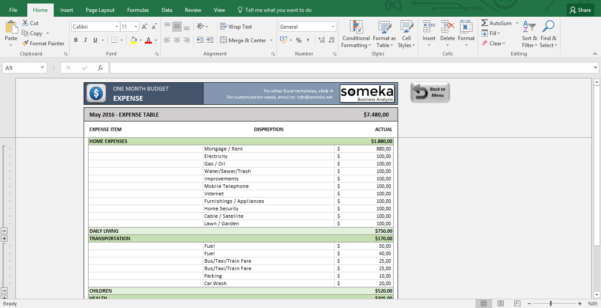 Monthly Budget Excel Spreadsheet Template Inside Monthly Budget Worksheet  Free Budget Template In Excel