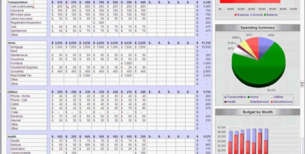 Monthly Budget Spreadsheet Excel For Monthly Budget Spreadsheet Budget Spreadsheet Monthly