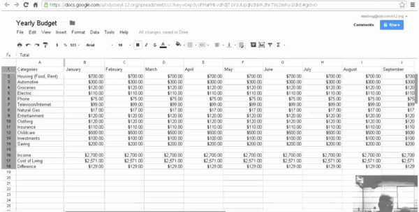 Monthly Budget Spreadsheet Google Docs Intended For Free Google Docs Budget Templates Smartsheet Monthly Budget Spreadsheet Google Docs Printable Spreadsheet