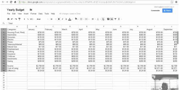 Monthly Budget Spreadsheet Google Docs Intended For Free Google Docs Budget Templates Smartsheet