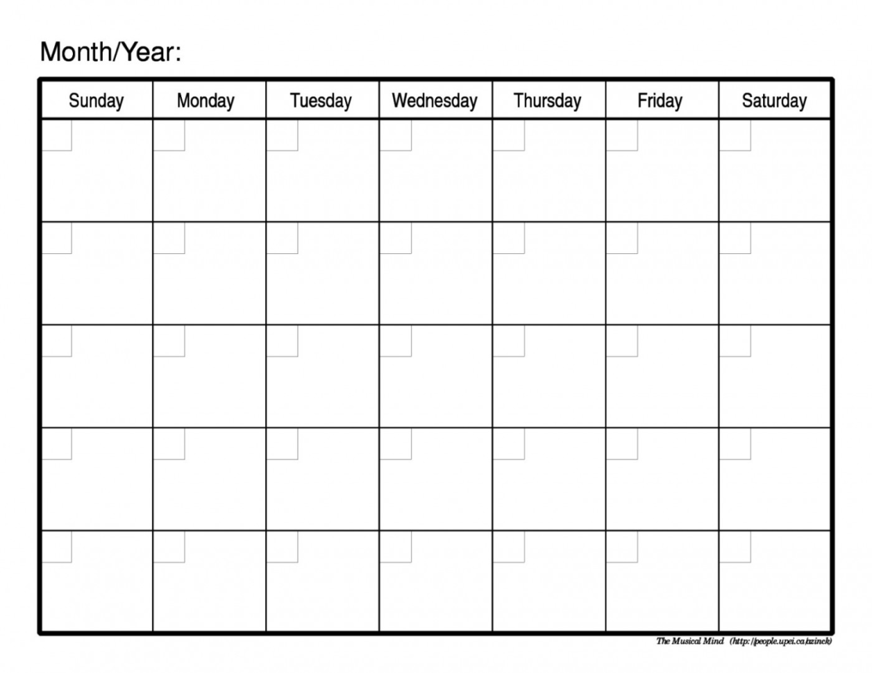 Monthly Calendar Spreadsheet For 001 Printable Monthly Calendar Templates Template ~ Ulyssesroom