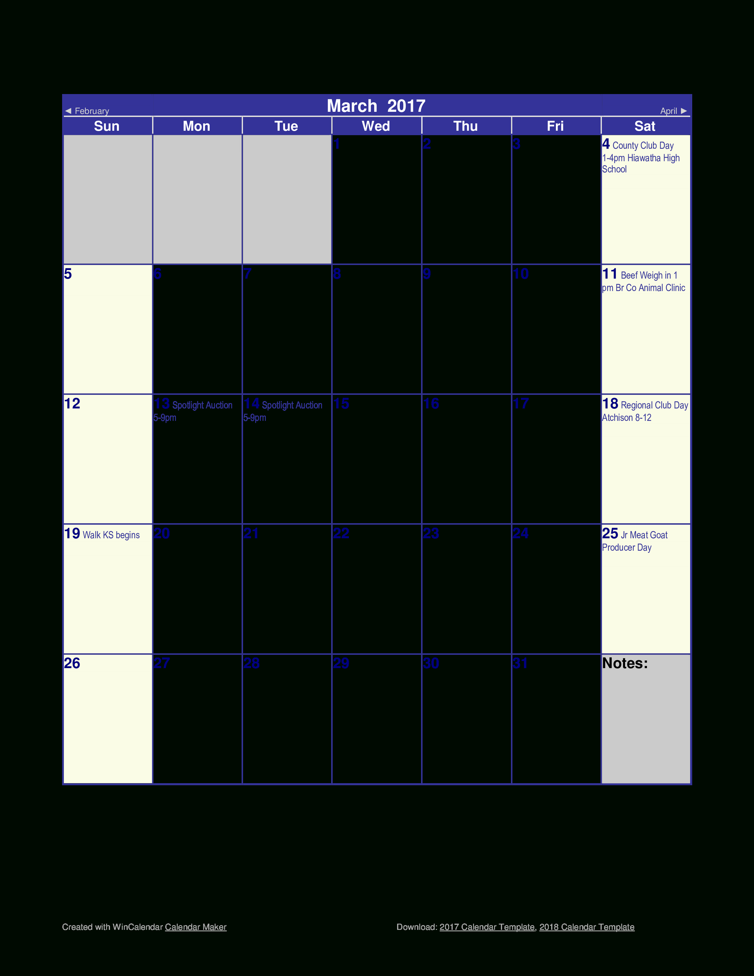 Monthly Calendar Spreadsheet With Free Blank Monthly Calendar  Templates At Allbusinesstemplates