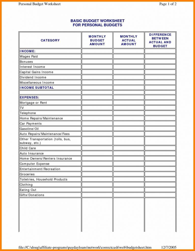 Monthly Household Budget Spreadsheet With Regard To Household Budget Sheet Template Home Spreadsheet Free Monthly Excel