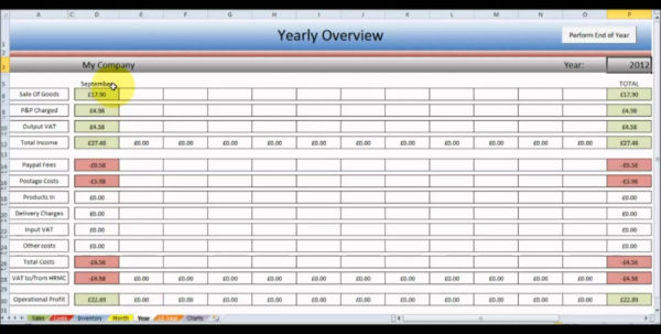 Monthly Inventory Spreadsheet Template Within Format For Ms Excel  Homebiz4U2Profit