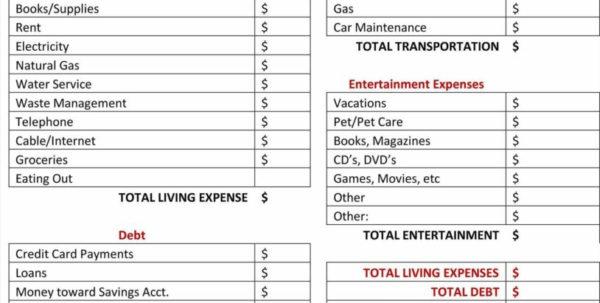 Monthly Living Expenses Spreadsheet Inside Water Bill Template And Monthly Monthly Expense Spreadsheet Bill