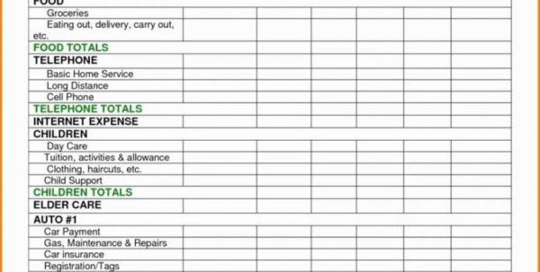 Monthly Living Expenses Spreadsheet Within Monthly Living Expenses Template New Rental Property Bud Spreadsheet