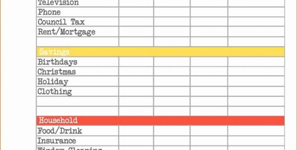 Monthly Outgoings Spreadsheet In Business Monthly Budget Spreadsheet Template With Plus Expenses