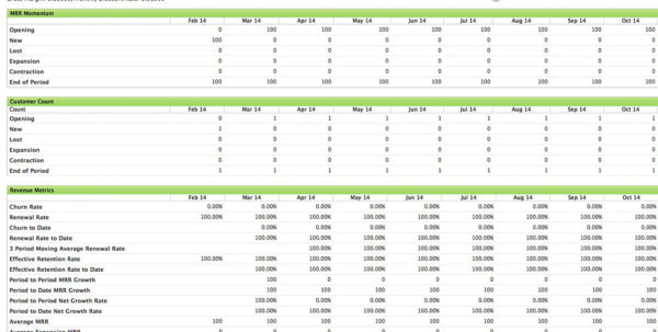 Monthly Recurring Revenue Spreadsheet Intended For Understanding Monthly Recurring Revenue For Saas Businesses Mrr