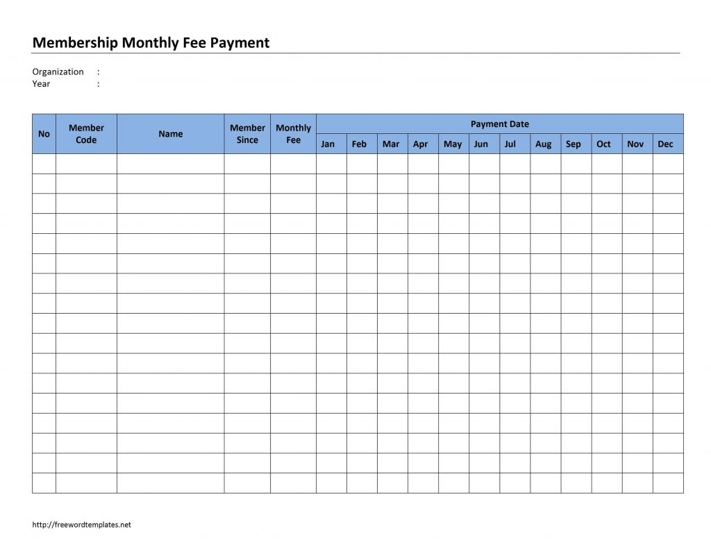 Monthly Rent Collection Spreadsheet Template Throughout Example Of Rentllection Spreadsheet Membership Monthly Payment