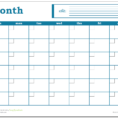 Monthly Spreadsheet Within Blank Monthly Calendar  Excel Template  Savvy Spreadsheets