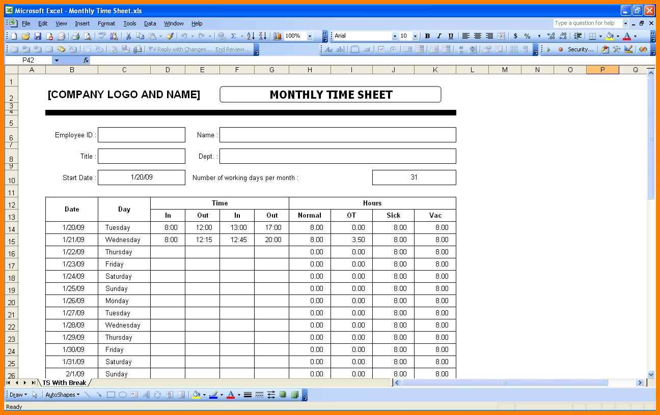 Monthly Timesheet Excel Spreadsheet For 6  Excel Spreadsheet Timesheet  Gospel Connoisseur