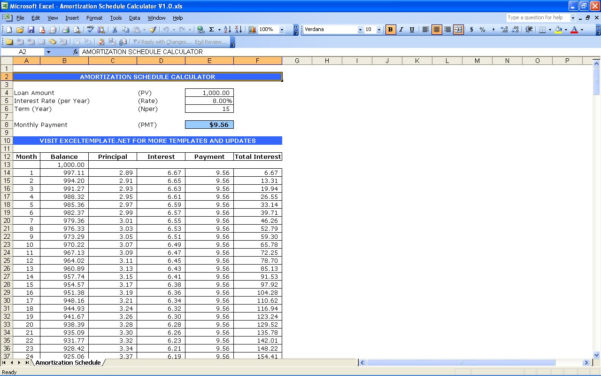 Mortgage Amortisation Spreadsheet Pertaining To Mortgage Loan Calculator In Excel  My Mortgage Home Loan