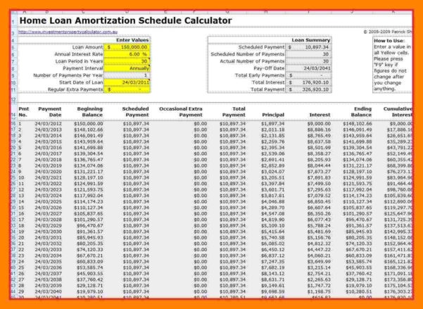 Mortgage Amortization Calculator Extra Payments Spreadsheet Regarding 7  Mortgage Schedule Spreadsheet  Credit Spreadsheet