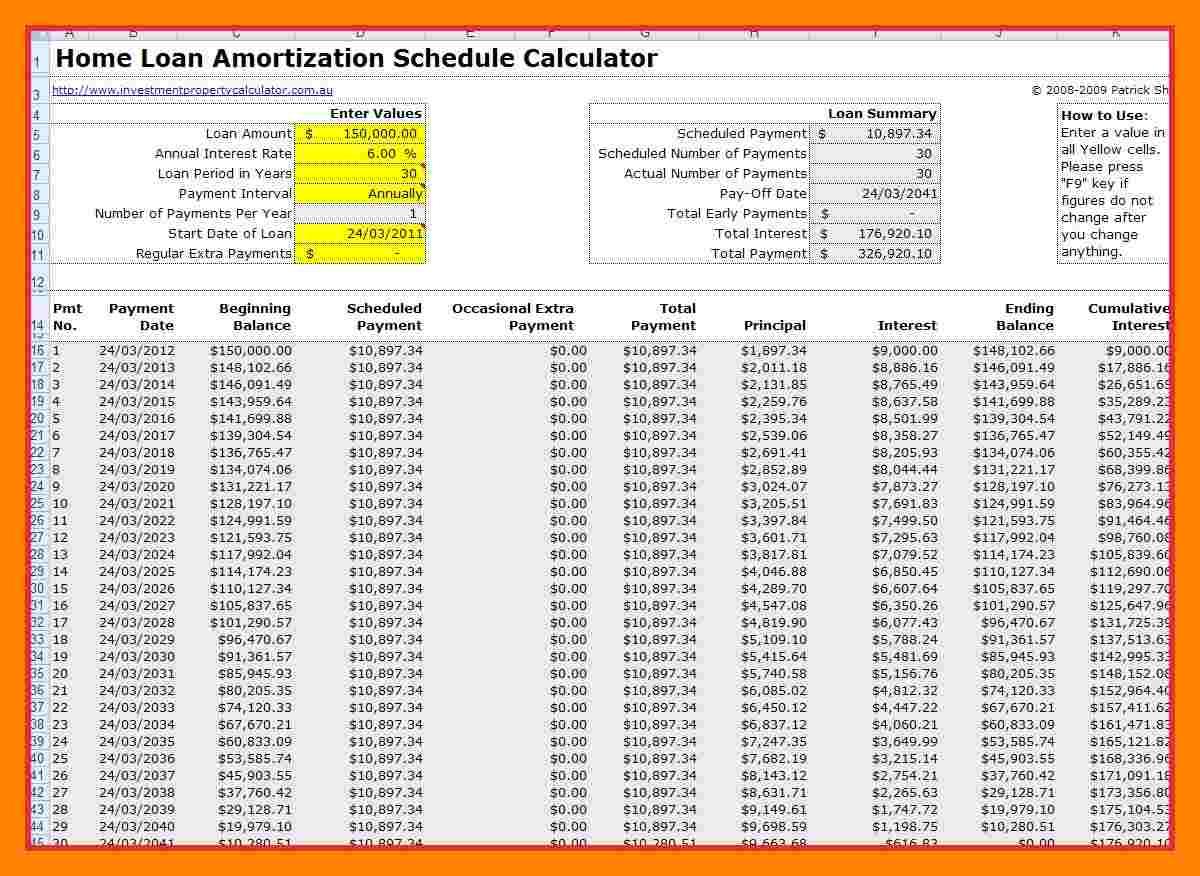 Mortgage Amortization Calculator Extra Payments Spreadsheet Regarding 7  Mortgage Schedule Spreadsheet  Credit Spreadsheet