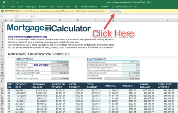 Mortgage Amortization Spreadsheet Excel Intended For Download Microsoft Excel Mortgage Calculator Spreadsheet: Xlsx Excel