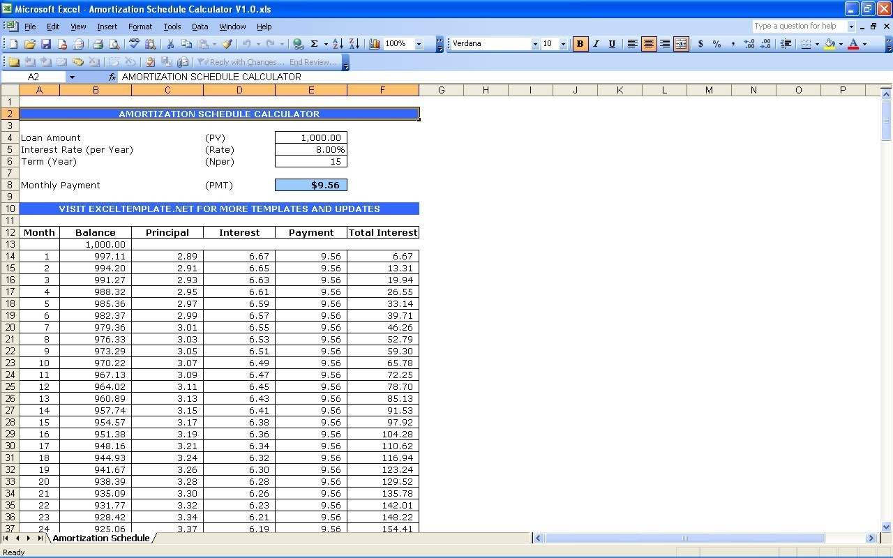 Mortgage Amortization Spreadsheet Excel Throughout Mortgage Amortization Table Excel Spreadsheet And Excel Amortization