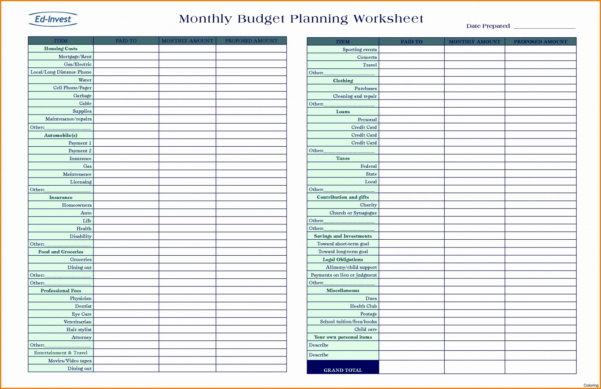 Mortgage Budget Planner Spreadsheet Pertaining To 019 Financial Plan Template Excel Planning Spreadsheet Free Budget