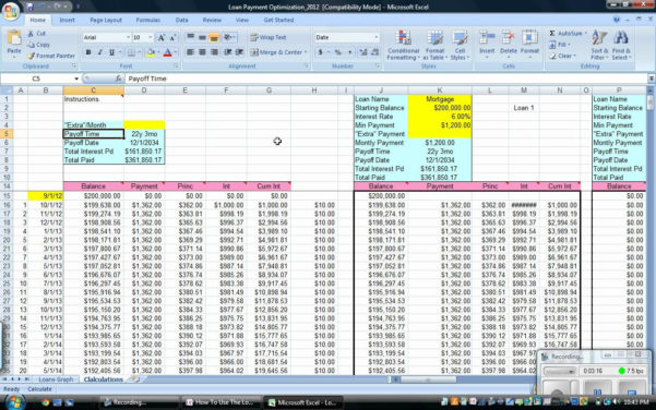 Mortgage Calculator Excel Spreadsheet Intended For Amortization Schedule Extra Payments Excel  Alex.annafora.co
