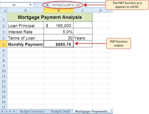 Mortgage Calculator Spreadsheet Throughout Mortgage Calculator Spreadsheet Template  Spreadsheet Collections