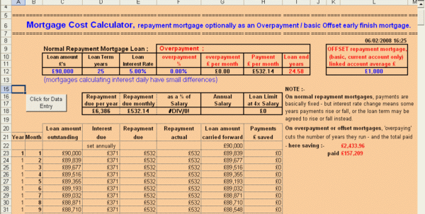 Mortgage Calculator Spreadsheet Uk With Wilmot's Microsoft Office Excel Mortgage Calculators  Low Start Mortgage Calculator Spreadsheet Uk Google Spreadsheet