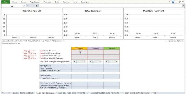 Mortgage Comparison Spreadsheet Pertaining To Home Loan Comparison Spreadsheet And Mortgage Comparison Worksheet