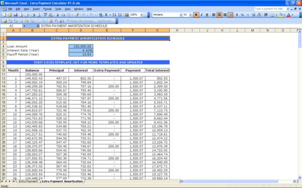 Mortgage Payment Spreadsheet Excel Within Mortgage Payment Table Spreadsheet Loan Amortization Schedule Excel