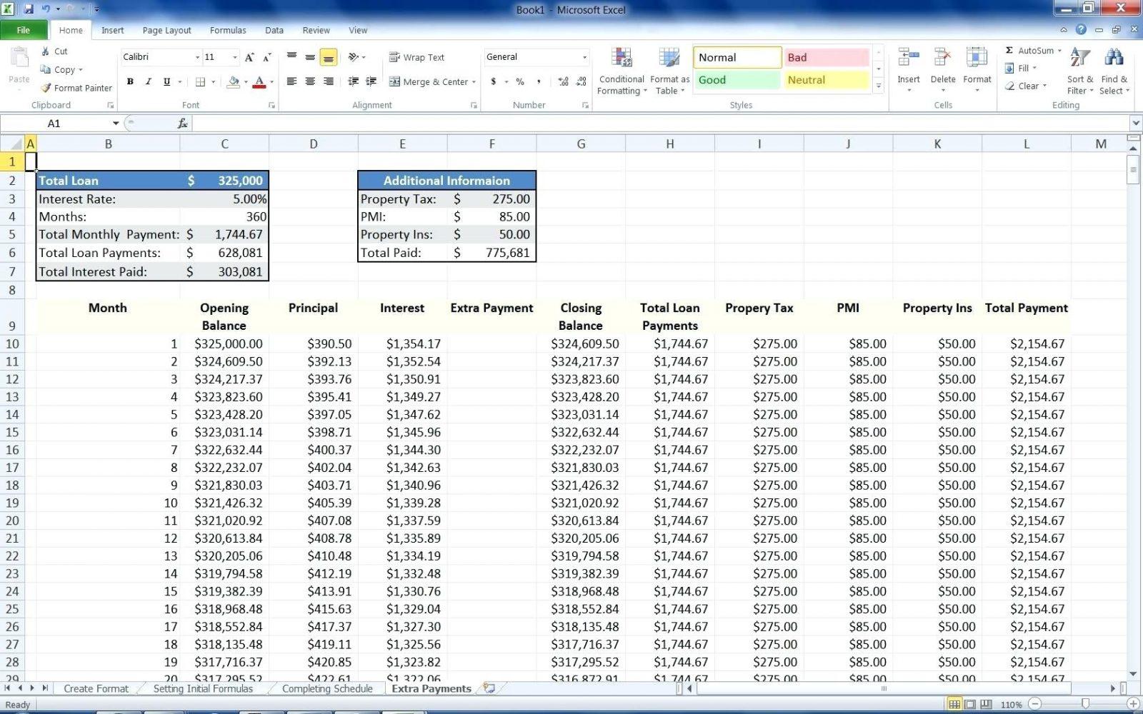 Mortgage Spreadsheet Formula Pertaining To Form Mortgage Spreadsheet Formula Examples Templatel Loan Calculator