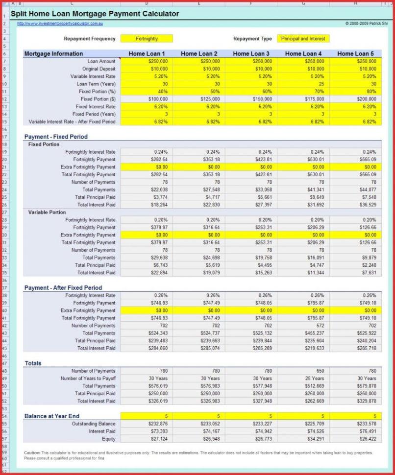 Mortgage Spreadsheet Formula With Regard To Mortgage Spreadsheet Formula Examples How Toalculateon Formulas