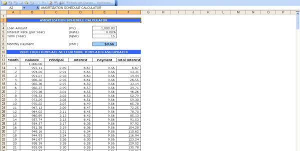 Mortgage Spreadsheet Formula Within Mortgage Payment Table Spreadsheet Amortization Schedule Formula