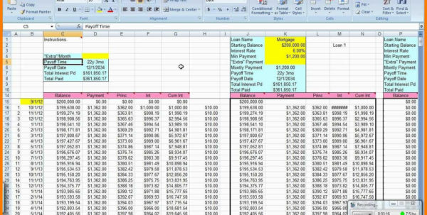 Mortgage Spreadsheet With Extra Payments Intended For Loanortization Schedule Excel With Extra Payments Mortgage