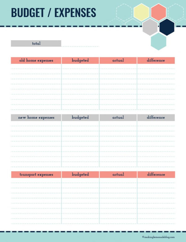 Moving Budget Spreadsheet With Ultimate Collection Of Moving Printables Free Printable Moving Kit!
